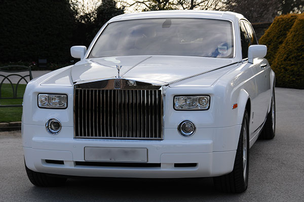 White Rolls Royce Phantom